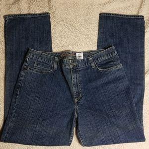Eddie Bauer Natural Straight Leg Jeans Sz 14
